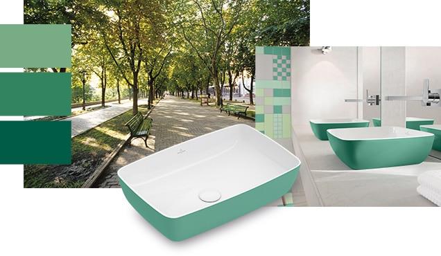 Frische Farben fürs Badezimmer wirken harmonisierend.