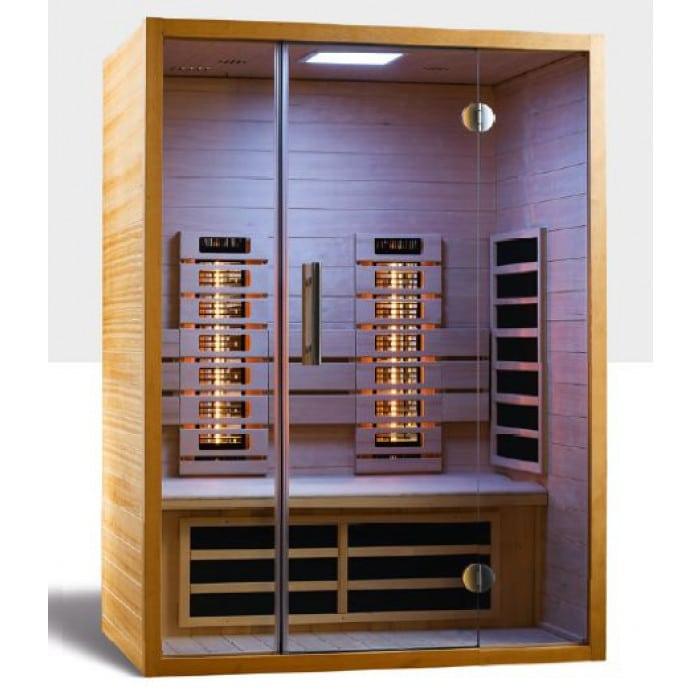 Die Sunlight 140 Infrarotkabine macht Ihr Zuhause zum Vital Home - und sorgt für entspannende Auszeiten zu zweit.