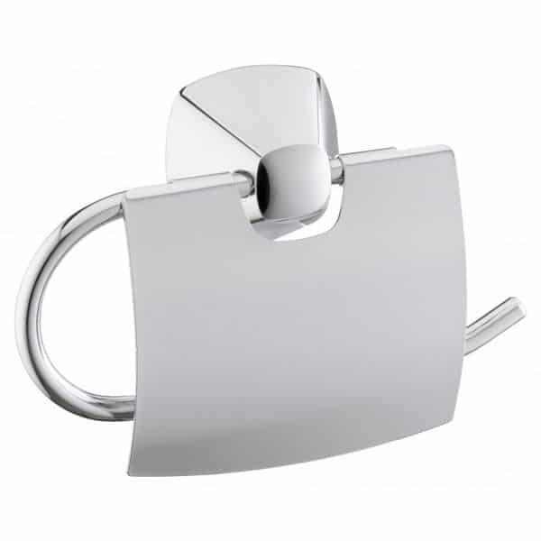 Der Toilettenpapierhalter der Serie Keuco City 2 überzeugt mit unaufdringlicher Eleganz.